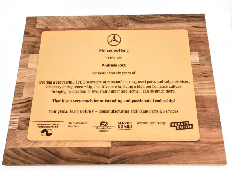 Abschiedsgeschenk Mercedes Benz