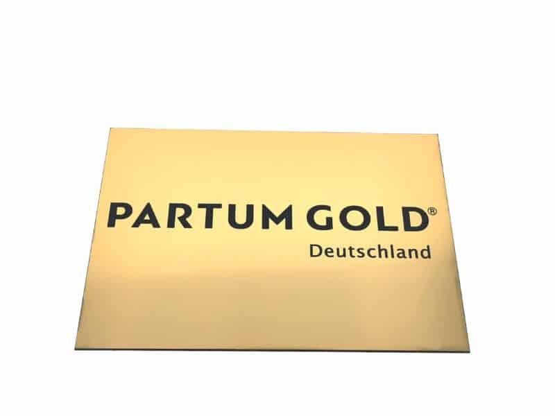 Aluminiumschild Partum Gold
